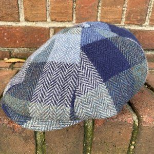 Wigens Newsboy Contemporary Cap Blue Plaid